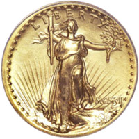 1907 $20 High Relief Gold Coin