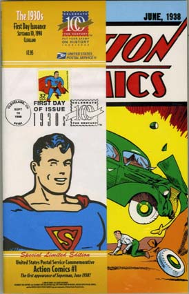Action Comics #1: 1998 USPS Superman Postage Stamp Edition