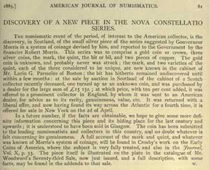 April 1885 edition of the American Journal of Numismatics