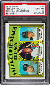 1972 Topps Carlton Fisk Red Sox Rookies #79 PSA Gem Mint 10 Pop Four