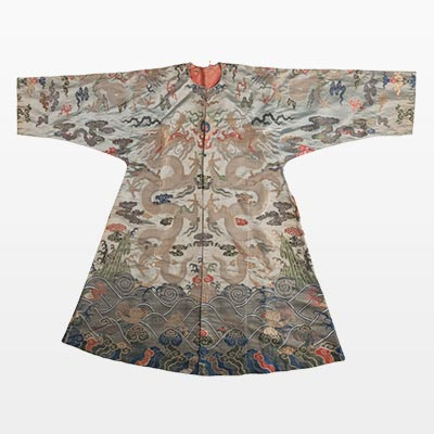 A Korean Silk Embroidered Dragon Robe