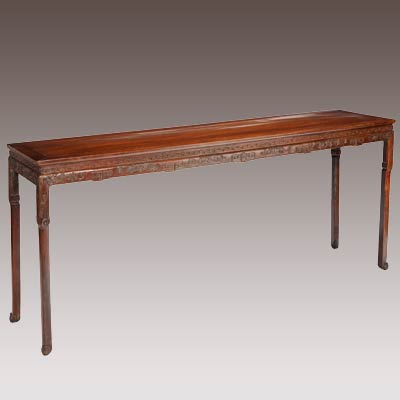 A Chinese Carved Hardwood Altar Table, circa 1850