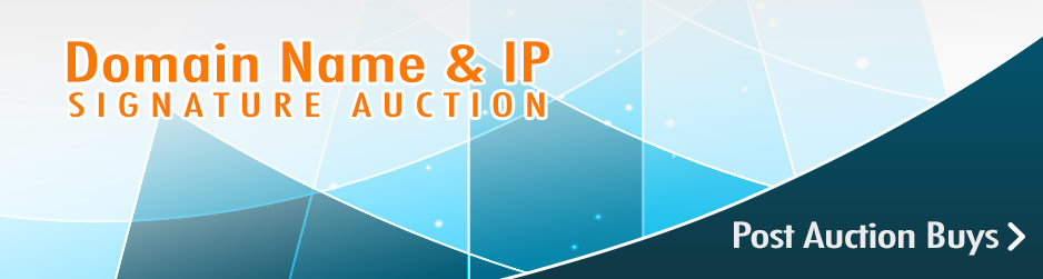 Domain Name and IP Signature Auction. Post Auction Buys