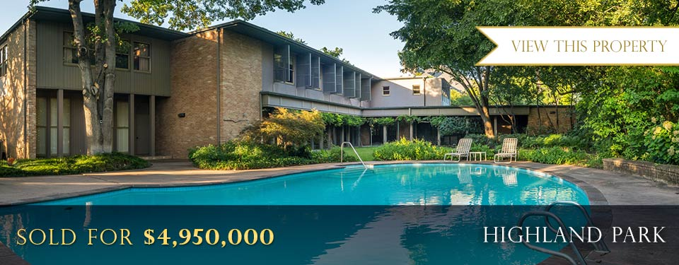 Highland Park Luxury Real Estate Sold for $4,950,000