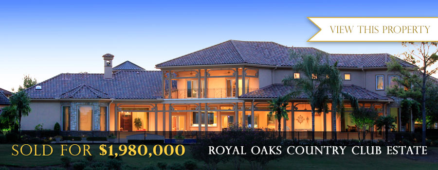 Royal Oaks Country Clubs Luxury Real Estate Sold for $1,980,500