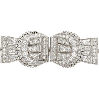Diamond, Platinum, Double-Clip-Brooch, Tiffany & Co.