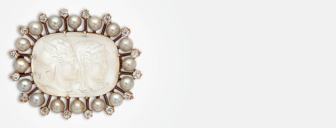 Featured Jewelry in Pearls and Diamonds