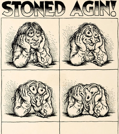 Robert Crumb Your Hytone Comix (nn) 'Stoned Agin!' Inside Back Cover Original Art (Apex Novelties, 1971)