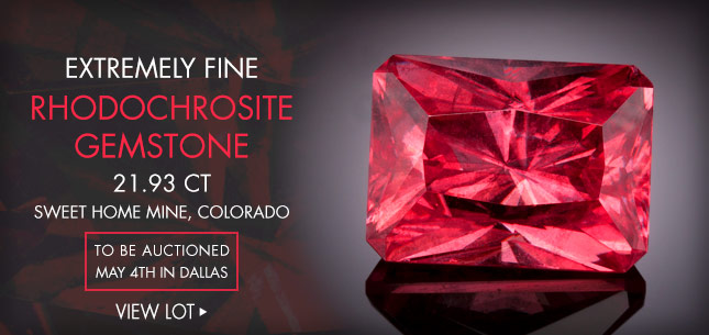 Extremely Fine Rhodochrosite Gemstone, 21.93 CT, Sweet Home Mine, Colorado - To be auctioned May 4th in Dallas