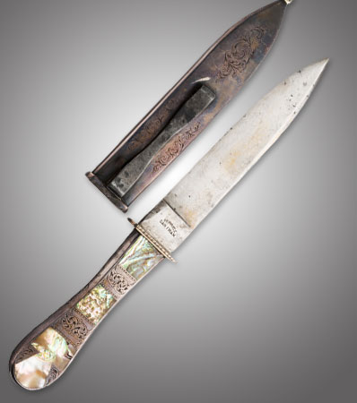 Michael Price Abalone Mosaic California Knife