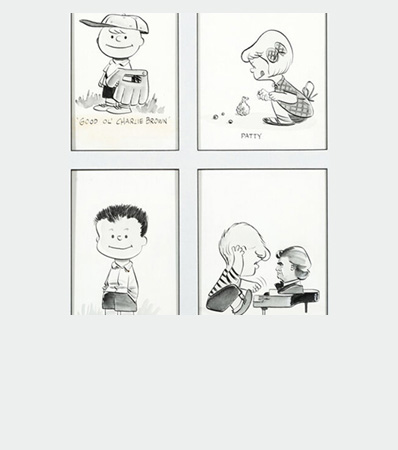 Peanuts Early Character Illustrations by Charles Schulz (1953/1954).