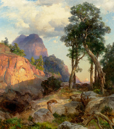 Thomas Moran (American, 1837-1926) Mountain Lion in Grand Canyon (Lair of the Mountain Lion), 1914