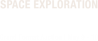 May 9 - 10 Space Exploration Signature Auction Featuring The Armstong Family Collection Part II #6206