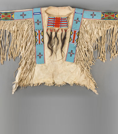 A Crow Beaded Hide War Shirtc. 1900