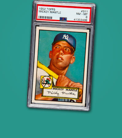 1952 Topps Mickey Mantle #311 PSA NM-MT 8. Fresh To The Hobby!