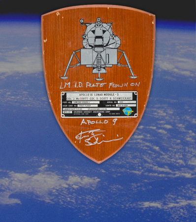Apollo 9 Lunar Module Flown Spacecraft Identification Plate