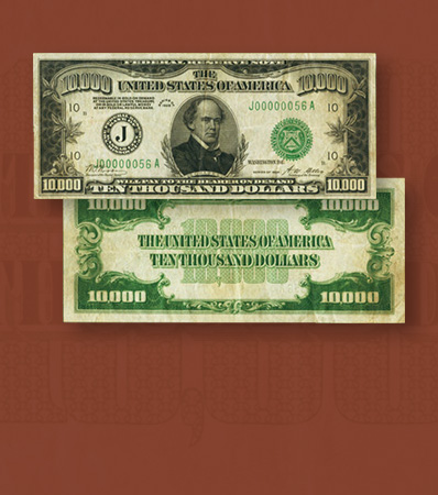 Fr. 2230-J $10,000 1928 Federal Reserve Note. PMG Very Fine 30