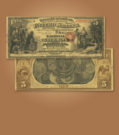 Serial Number 1 Sacramento National Gold Bank Note