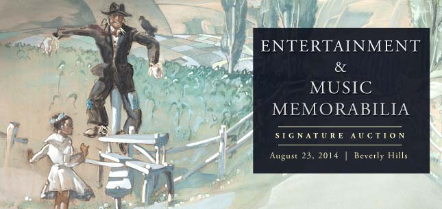 August 23 Entertainment & Music Memorabilia Signature Auction - Beverly Hills #7092