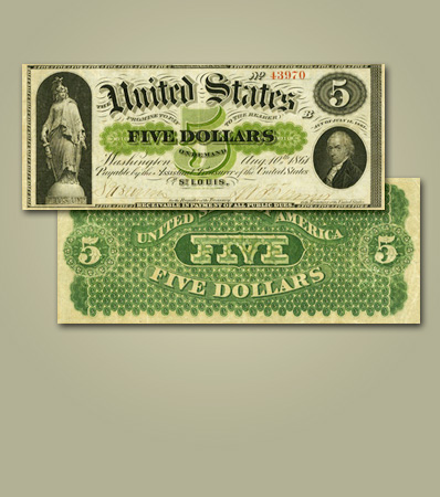 United States of America - Fr. 5 $5 1861 St. Louis Demand Note
