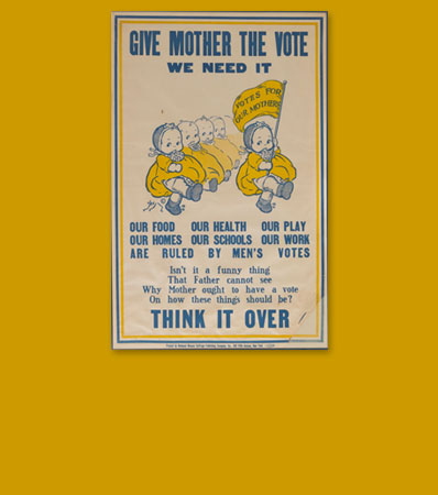 Votes for Women: Rose O'Neill Kewpie Poster, Perhaps the Most Sought-After of All Woman's Suffrage Items