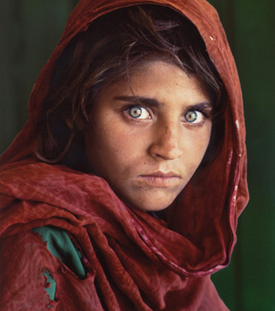 Steve McCurry (American, b. 1950), Afghan Girl