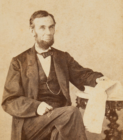 Abraham Lincoln Carte de Visite Signed
