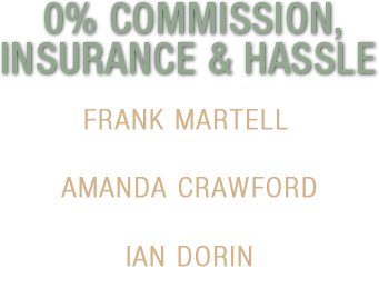 0% Commission, Insurance & Hassle
