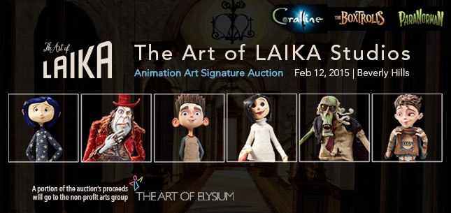 2015 February 12 The Art of Laika Studios Animation Art Including Coraline, ParaNorman, and The Boxtrolls Signature Auction - Beverly Hills #7129
