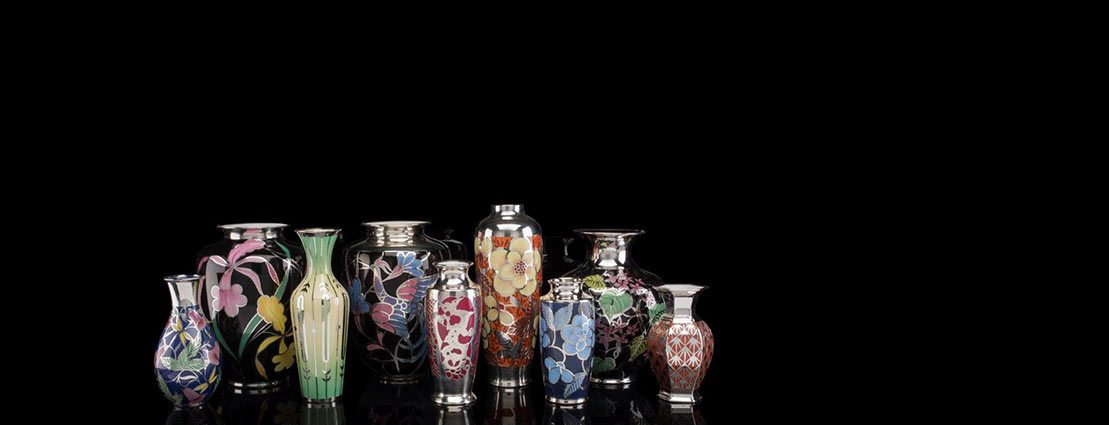 Featuring a Private Collection of Fine German Silver Overlay Porcelain