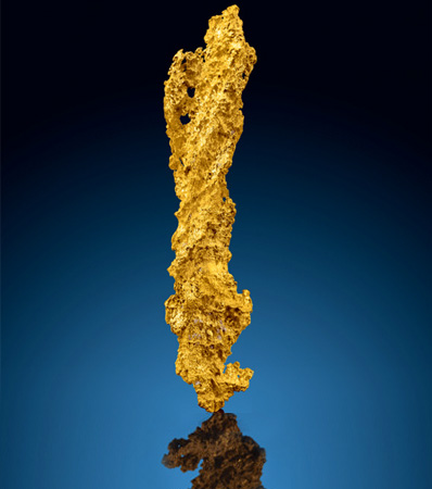 Gold Nugget 'Lightning Bolt'
