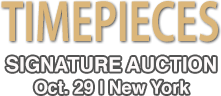 2015 October 29 Timepieces Signature Auction - New York #5242