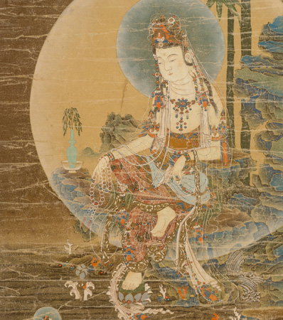 Korean School, Joseon Dynasty, Seated Avalokitesvara (Suwol Gwaneum)