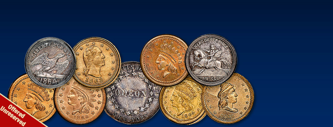 The Donald G. Partrick Collection of Civil War Merchant Patriotic Tokens