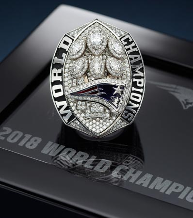2018 New England Patriots Super Bowl LIII Championship Ring Presented to Wide Receiver Josh Gordon.