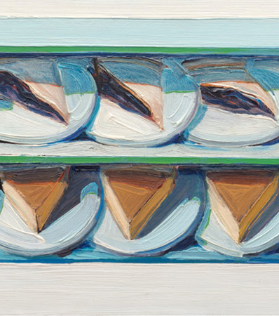 Wayne Thiebaud | Blueberry Custard, 1961