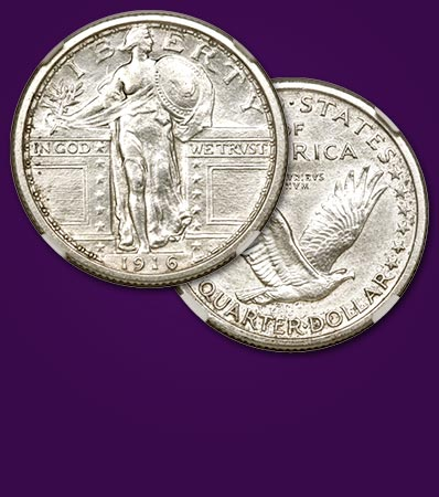 916 Pattern Standing Liberty Quarter, PR61Judd-1989, A Remarkable DiscoveryThe First Offering of a Monumental Rarity