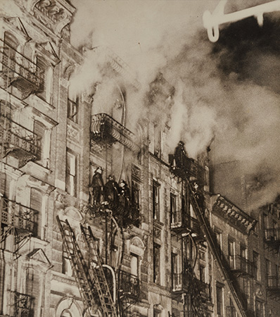 Weegee | Three Die in Fire on East Side, 137-139 Suffolk St, New York, March 4, 1937