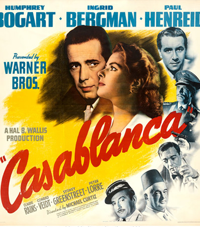 Casablanca (Warner Bros., 1942). Very Fine on Linen