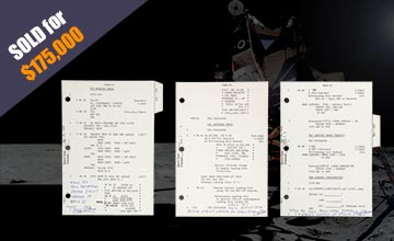 Apollo 11 Lunar Module Landing Sequence Pages Sold for $175,000