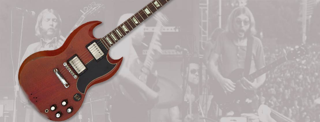 Duane Allman's Circa 1961/1962 Gibson SG, Cherry, Solid Body Electric Guitar, Serial #15263.