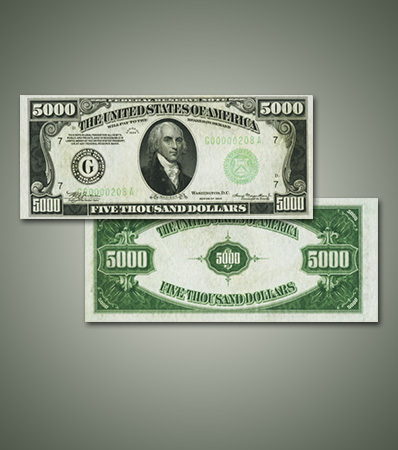 Fresh and Fully Uncirculated $5,000 FRN