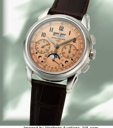Patek Philippe, Very Fine and Rare Ref. 5270P, Perpetual Calendar Chronograph, Salmon Dial, circa 2019