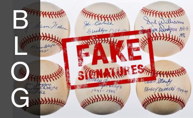 Sports Autographs: Indicators of a Fake Signature