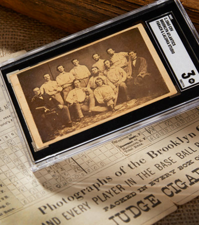 Circa 1860 CDV Brooklyn Atlantics Baseball Card SGC VG 3