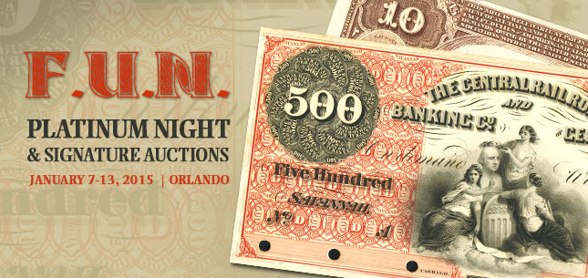 2015 January 7 - 13 FUN Currency Signature Auction - Orlando FUN #3531