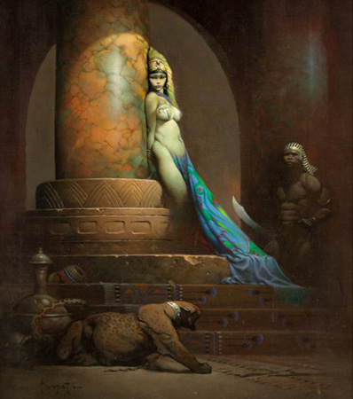 Frank Frazetta Egyptian Queen Painting Original Art (1969)