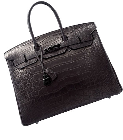 'So Black' Hermès Alligator Birkin Bag
