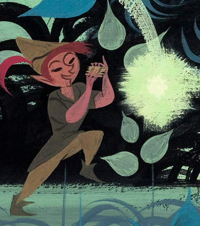 Mary Blair Concept painting for Peter Pan