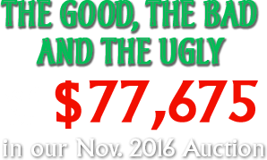The Good, the Bad and the Ugly  Sold for $77,675